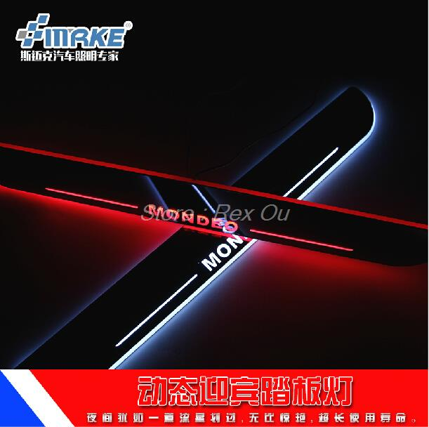 excellent Car style Led moving door scuff, car pedal, sill plate steps light Ford Mondeo 2013 2014 2015 - HochiTEch Co.,Ltd Store store
