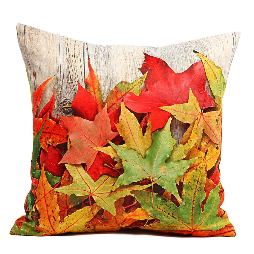 Decorative Outdoor Fall Pillows : 40 45 50cm Cushion Cover Plank Maple Leaf Throw Pillow Covers Outdoor Cushion Covers Decorative ...