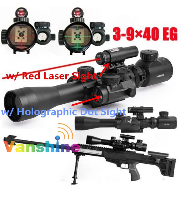3-9x40EG Red/Green Illuminated Tactical Riflescope Air Rifle Optics Hunting Sniper Scope Laser Sight 22mm<br><br>Aliexpress