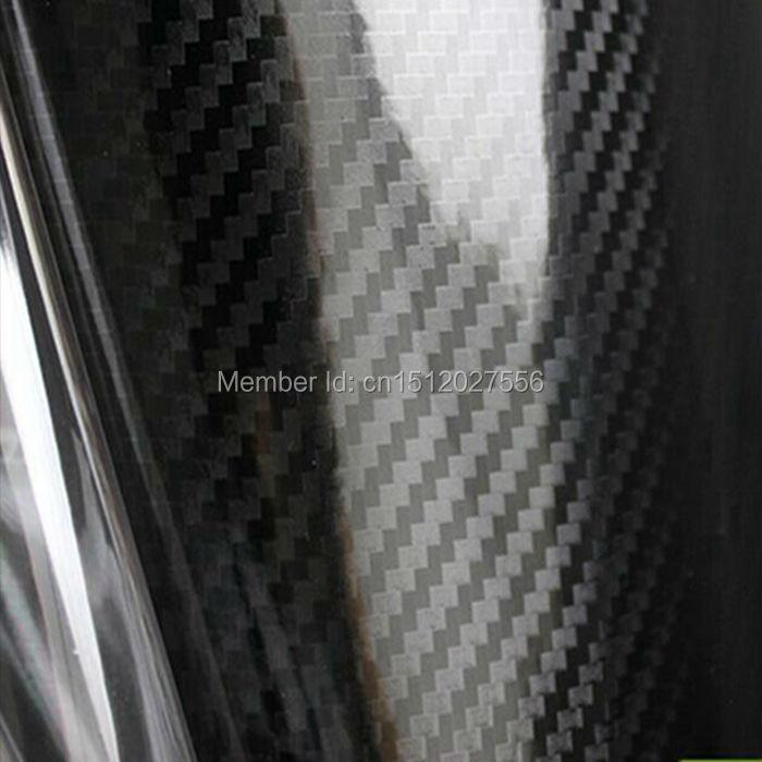Black high waterproof 5D carbon fiber film / hydrographic transfer printing film for car body(China (Mainland))