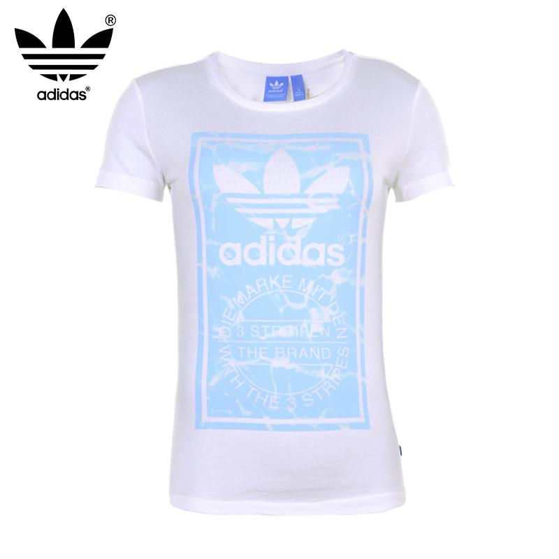 100% Original 2015 Summer New Adidas ORIGINALS summer style women short sleeve T-Shirts Training Shirt S18498 Free Shipping(China (Mainland))