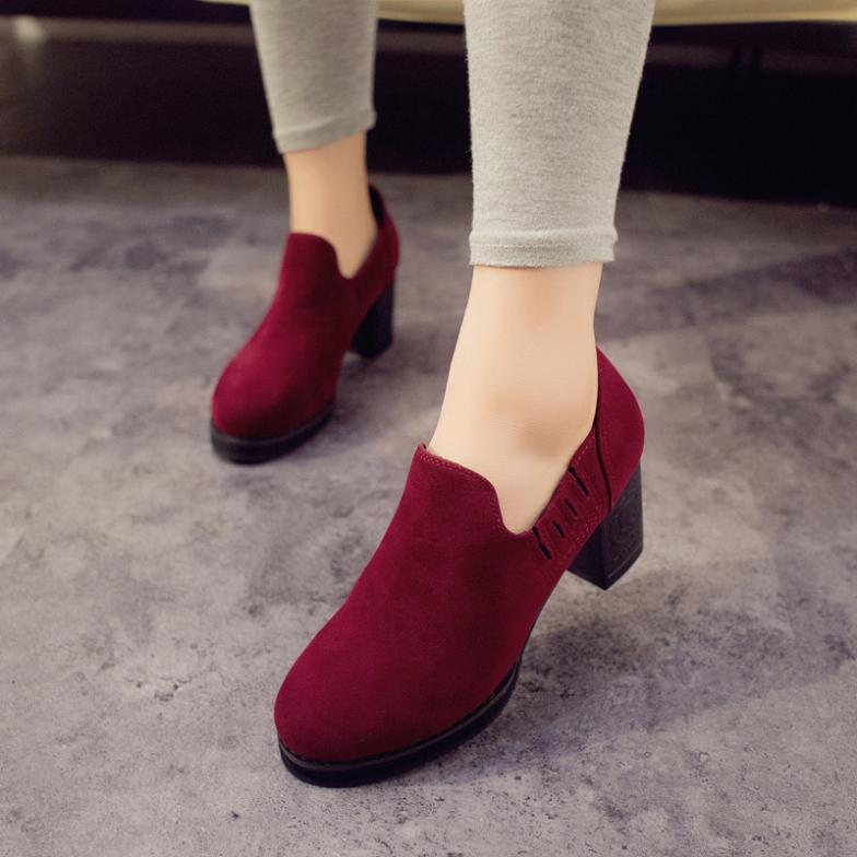 2014 spring autumn new female thick heel high-heeled shoes work retro heavy-bottomed fashion lady B455