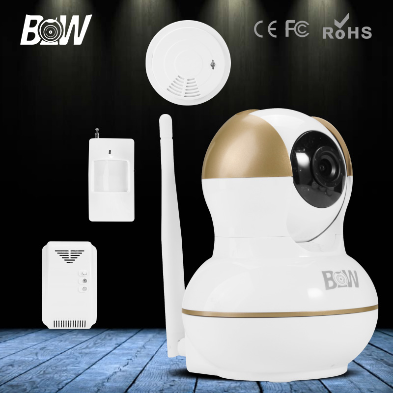 Фотография 2016 BW HD 720P CCTV IP Camera Wireless Indoor Infrared Network Video Surveillance Wifi Security Camera Automatic Alarm System