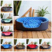 Hot Sell Seven Colors Fashion Xl Size Pet Beds Warm Kennel House Comfortable Cama Para Cachorro Mat High Quality Large Dog Bed(China (Mainland))
