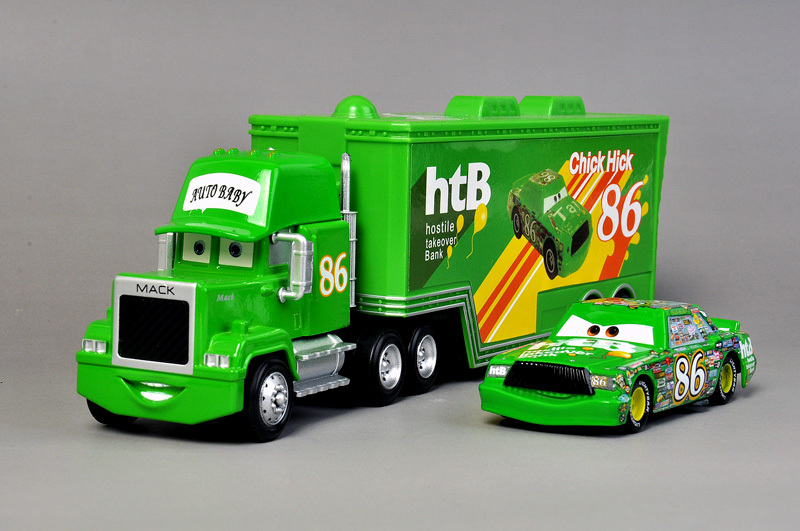 A0090 Kids gift Funny Pixar Cars diecast figure toy Alloy Car Model for kids children green-Container NO.86 truck brand new(China (Mainland))
