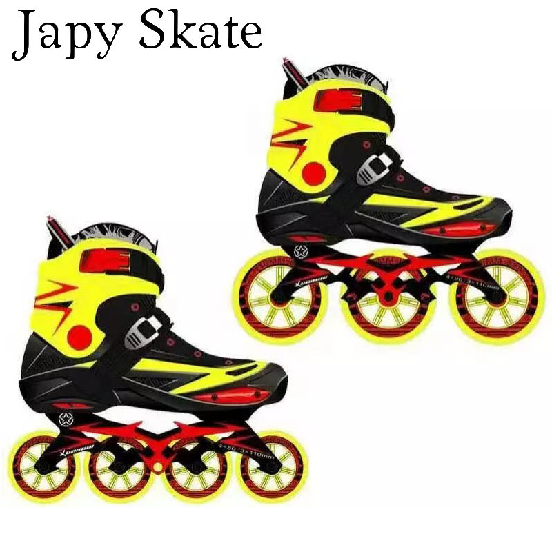 Customizable Inline Skates Can Print Your Brand And Logo On The Skating Shoes 4*80 Or 3*110mm Changeable Slalom Speed Patines(China (Mainland))
