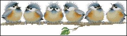 14ct счетный крест вышивка DIY ручной работы рукоделие ремесло декор для дома 6 пение птиц животных