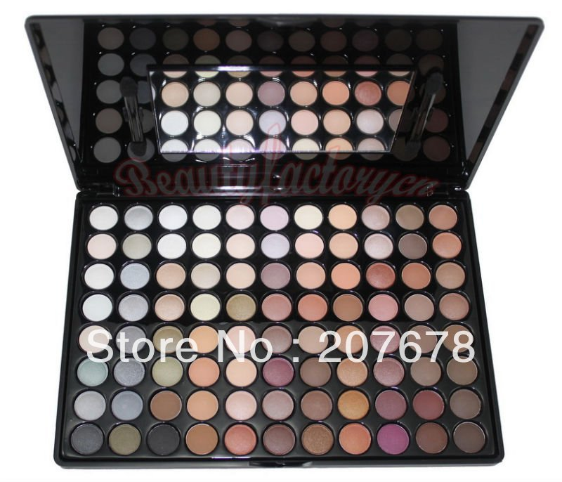Free shipping Pro 88 Warm Color Eye Shadow Makeup Palette Eyeshadow 2# Cosmetics With Mirror And Brushes