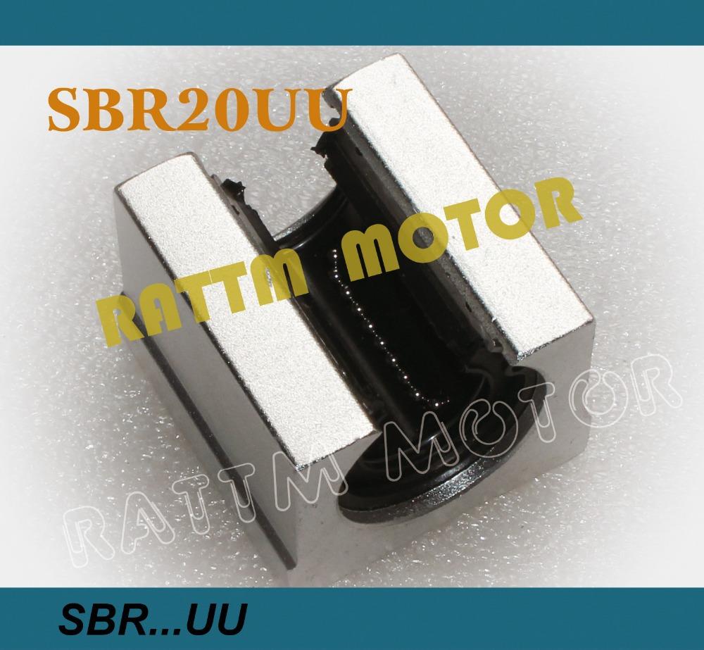Free shipping 4PCS SBR20UU SBR20 20mm Linear Ball Bearing Block CNC Router(China (Mainland))