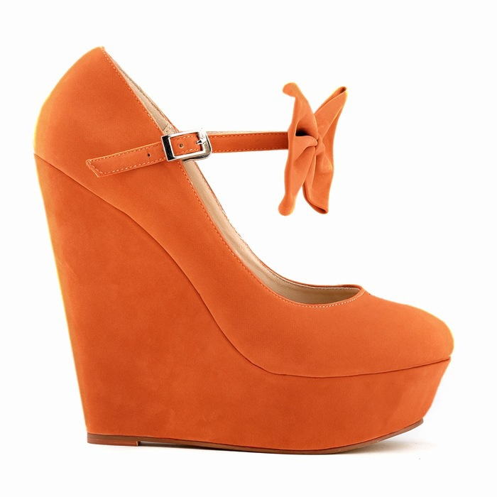 2015 Summer Sweet Lady Pumps Ankle Strap Bowtie Party Buckle Strap Platform Round Toe Soft Leather Wedges High Heels Pumps