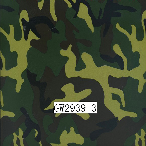 GW2939-3 100CM Camouflage water transfer printing films &Water Transfer Printing Hydro Graphics Film- Green Army Camo