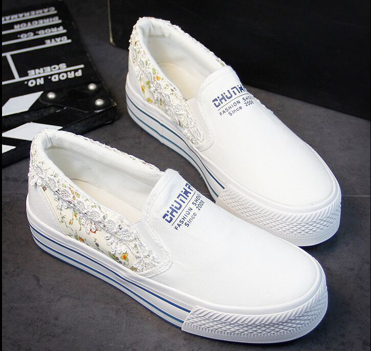 2015 Women Spring And Autumn Canvas Shoes Lace Patchwork Letter Flower Print Womens Flats Loafers VJ099<br><br>Aliexpress