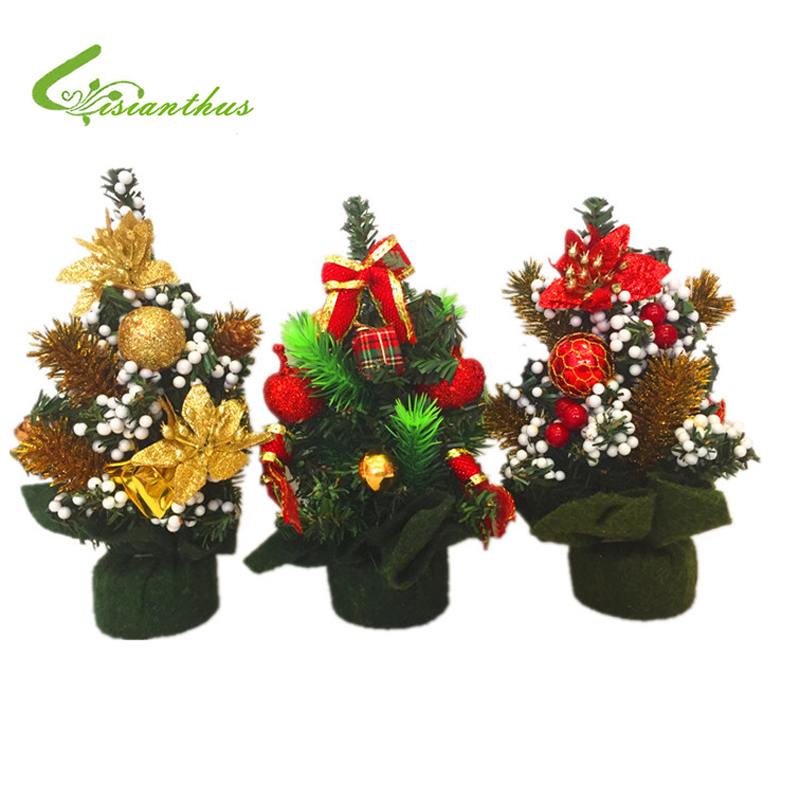 20cm height artificial mini christmas tree festival party for Artificial christmas decoration tree