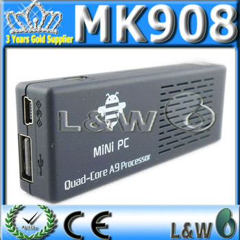 5pcs MK908 Quad Core TV Box Google Android Mini PC RK3188 Cortex-A9 1.8GHz 2G RAM 8G ROM XBMC DHL free shipping
