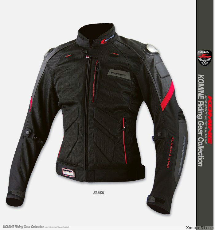 New KOMINE JK-036 the titanium leather with mesh racing suits motorcycle jacket 3Color(China (Mainland))