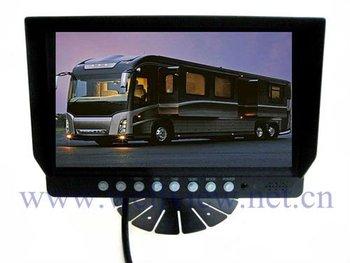 800*480 Digital Panel 2 Video Inputs 24V DC 9inch Car HD Monitor