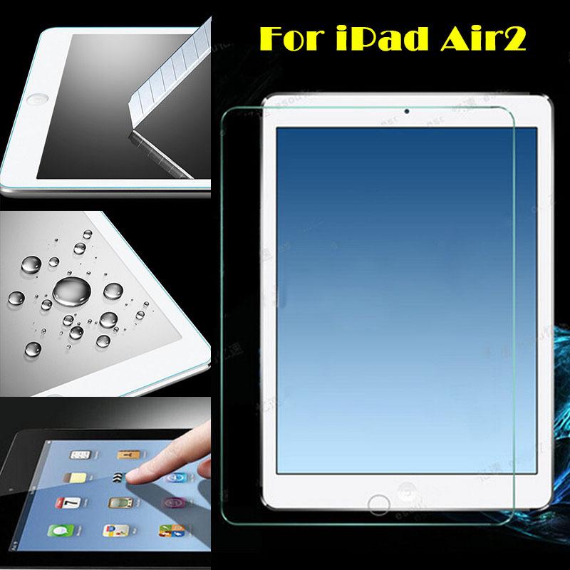 Для iPad Air2 Закаленное Стекло Пленка, ЖК-Фильм, гвардии Пленка, 0.3 мм 9 H царапинам Прозрачный Экран Протектор ET00100