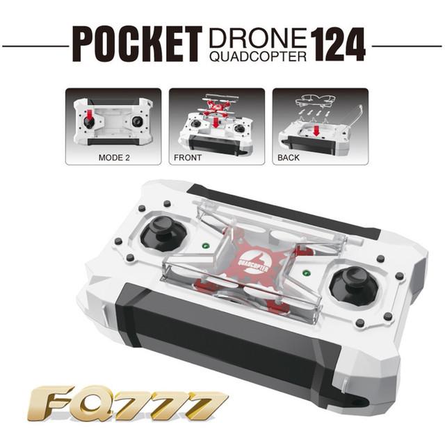 FQ777-124 Pocket RC Quadcopter 2.4 Г 4CH 6-осевой Гироскоп Беспилотный Вертолет RTF Самолеты Мини Кармана Пульт Дистанционного Управления Рождество подарок