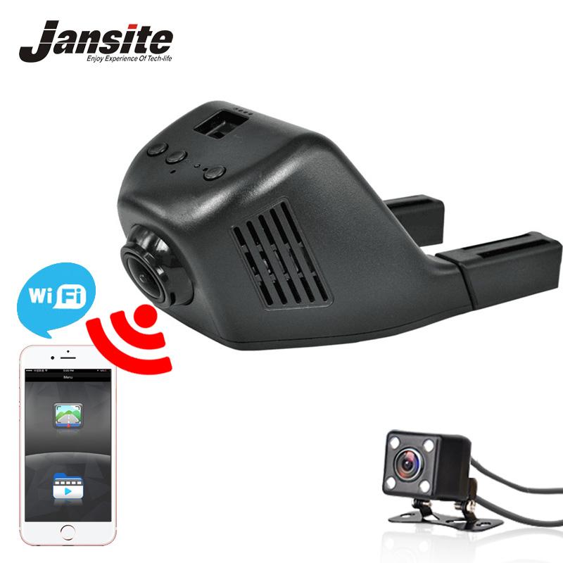 Jansite Car Dvr Mini Wifi Car Camera Dash Cam Registrator Video Recorder Camcorder Full HD 1080P Dual Lens Dvr Support App(China (Mainland))