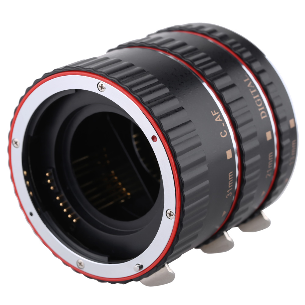 Macro Automatic Auto Focus AF Electronic TTL Extension Adapter Tube Set Photographic Lens Adapter for Canon EOS EF EF-S Lens(China (Mainland))