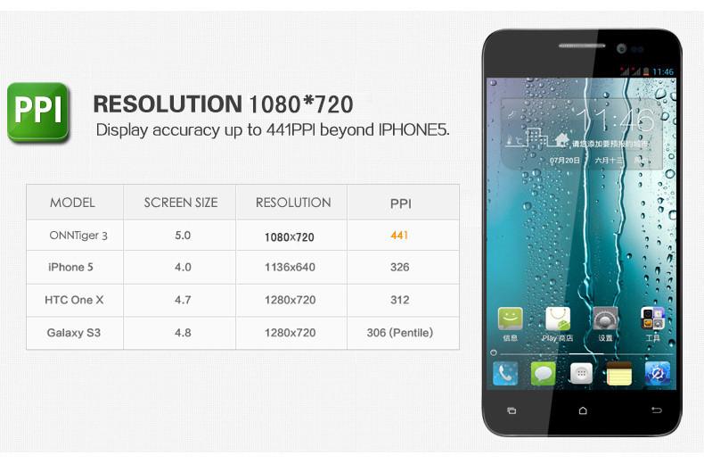 המקורי און v8 tiger2 טלפונים סלולריים 5 אינץ ' HD1080*7200 MTK6589T Quad Core 1.5 GHz 1GB RAM 4GB ROM מצלמה 8.0 MP סוללה 2200mAh