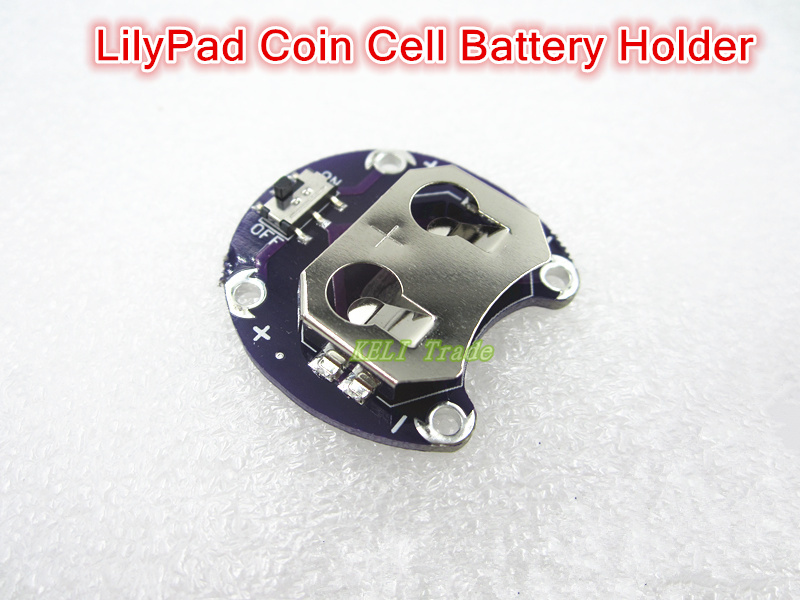 For Arduino LilyPad Coin Cell Battery Holder CR2032 Battery Mount Module(China (Mainland))