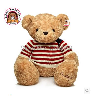 40cm teddy bear with swearter high quality birthday gift valentine gift(China (Mainland))