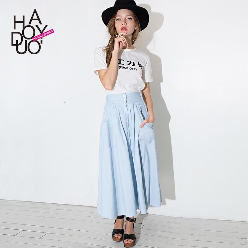 Женская юбка waistpleated haoduoyi Saia Femininos женская юбка dear lover saia 2015 lc21141