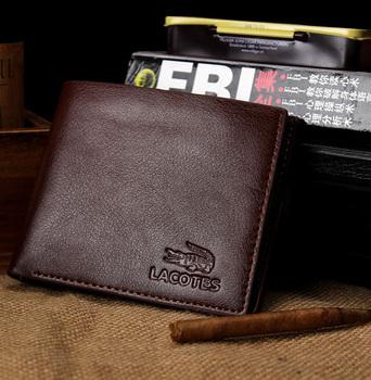 Черный коричневый мужчины бумажник кожа карта держатели стиль фото держатель портмоне ...