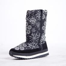 Cremallera Impermeable de Algodón de Invierno Zapatos Planos de Suela de Goma Botas de Nieve Caliente Botas De Esquí 2015 Bota Femenina Tamaño 36-40(China (Mainland))