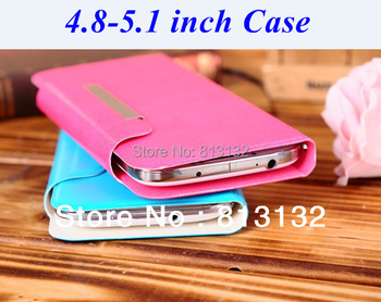 Leather case for 5 inch Umi S1 X2,Voto X2,THL W8,Star N9500,Feiteng H9500,General 4.8 4.9 5.0 5.1 inch mobile phone