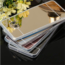 Plating Mirror Soft TPU Back Cover For Samsung Galaxy A3 A5 A310 A510 2016 J5 S3 S4 S5 S6 S7 Edge G530 Note 2 3 4 5 Phone Cases(China (Mainland))