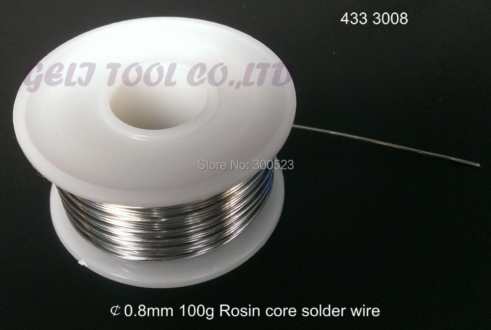 Diameter 0.8mm 100g Tin Lead Melt Rosin Core Solder Soldering Wire Reel, Drop shipping - geli tools Store store