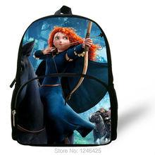 Modern character backpack Merida Princess Cartoon book bag kids choice dialy pack student kitbag schoolbag B74(China (Mainland))