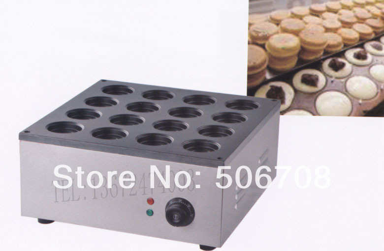 Free shipping~Electric 12 hole red bean cake machine Non-stick coating/ Cake baker/ Baking equipment<br>