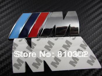 10pcs/lot 85mm*32mm ABS M Car Logo Badges Emblems
