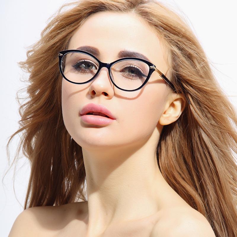 Aliexpress.com Comprar Moda TR 90 Gafas Ópticas Marco de Ojos de Gato Con Estilo para Las Mujeres de marco de los vidrios fiable proveedores en Nannan