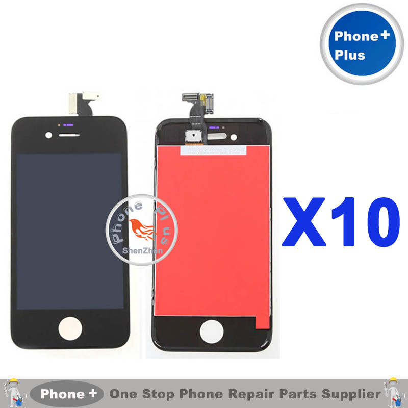 10PCS Black NO Dead Pixel AAA LCD Display Touch Screen Digitizer Assembly For iPhone 4 4G(China (Mainland))