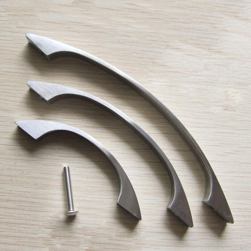 Wholesale DHL Free Shipping 20pcs/lot modern steel cabinet handel screw door handle brushed nickel knob 96mm mini drawer pulls(China (Mainland))