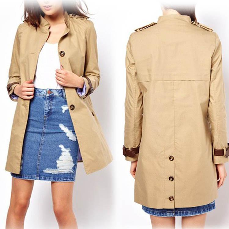 2014 new autumn winter women coat medium-long trenchcoat sashes thin casual dress - Lenny Wang's store