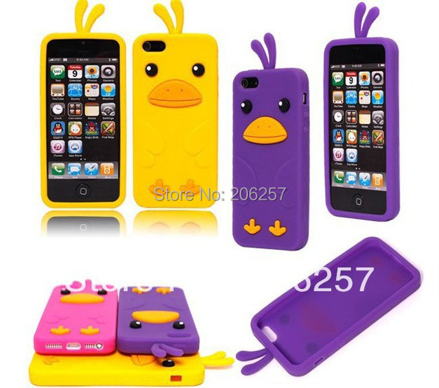 for iphone 5 case Free Shipping!High Quality Cute Chick Silicone Cover Skin New Case Cover For iPhone 5G