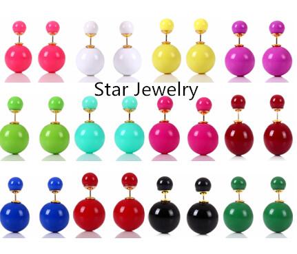 Гаджет  Star Jewerly Pearl Earrings 12 Colors Cheapest Double Side Stud Earrings Big Pearl Earrings For Women 2045 New Free Ship HOT None Ювелирные изделия и часы