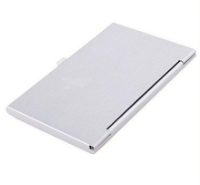 Hot Business ID Credit Card Case Metal Fine Box Holder Stainless Steel Pocket