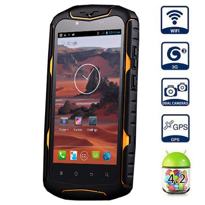 Jeep J6 Android4.2 3G Smart Mobile phone 5inch Screen MTK6582 Quad Core 1.3GHz 8GB ROM GPS WiFi Waterproof Shockproof Dustproof(China (Mainland))