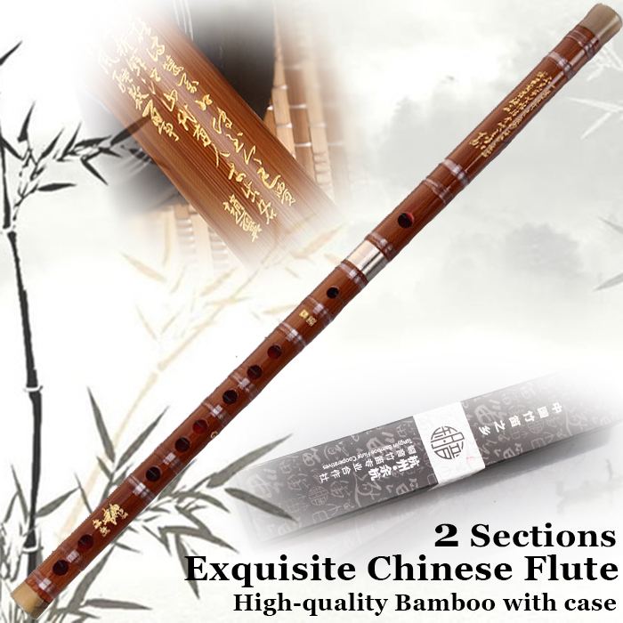 Chinese Bamboo Flute Traditional Handmade Wooden Musical Instrument Professional Playing Flauta 2Pipes Dizi Pluggable C/D/E/F/G
