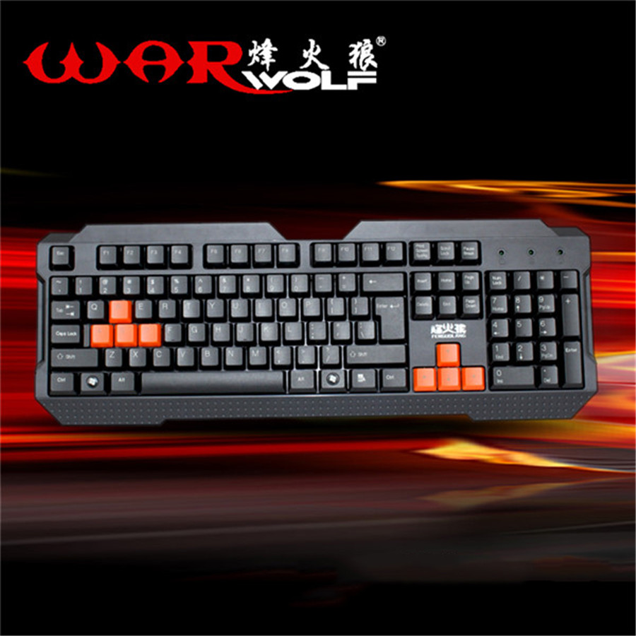 FK-221 Warwolf Computer Keyboard Gaming LED Backlit USB Wired Teclado 8 Buttons Gamer Comfortable New Laptop Desktop Waterproof(China (Mainland))