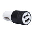 Top Quality 2 1A 24W 2 Port Smart USB Quick Charge Car Charger Happy Gifts Black
