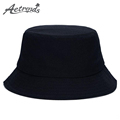 AETRENDS 10 Colors Solid Color Bucket Hats for Men Panama Women Hat Z 1570