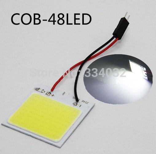 5x c5w cob 48 SMD chip super White Reading Lamp 12v led dome Bulb led Car parking Auto Interior Panel Light Festoon car styling