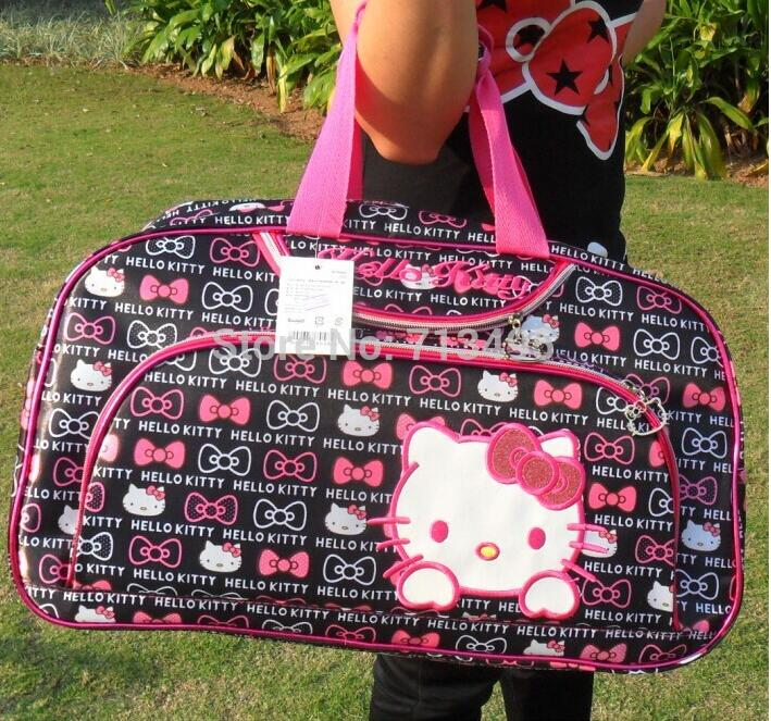 Free shipping 2016 hello Kitty fashion women travel bags, large capacity Travel Bags , leisure duffle bag women(China (Mainland))